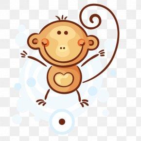 Animals Little Monkey - Giraffe Animal Clip Art PNG