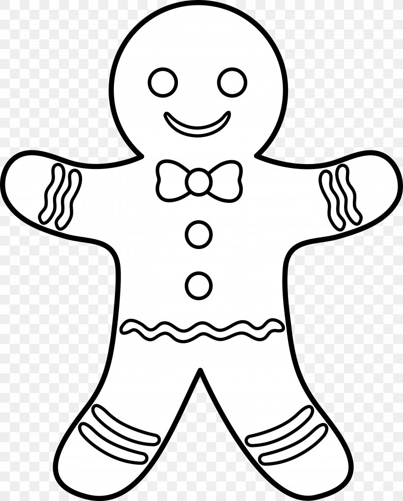 The Gingerbread Man Gingerbread House Coloring Book, PNG