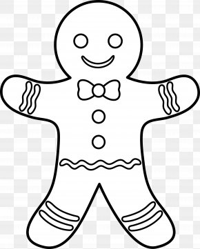 Outline Paper Cliparts - The Gingerbread Man Gingerbread House Coloring Book PNG