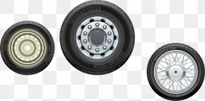 Black Tires - Car Tread Snow Tire Exhaust System PNG