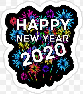 Label Sticker - Happy New Year 2020 New Years 2020 2020 PNG