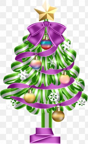 Watercolor Christmas Tree - Christmas Tree Gift Clip Art PNG