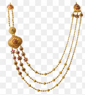 Necklace - Necklace Jewellery Gold Pearl Bead PNG