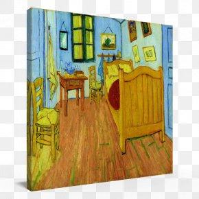 Van Gogh - Painting Van Gogh's Bedroom In Arles Van Gogh Museum PNG