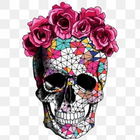 Creative Skull - Calavera Flower Skull Rose Crown PNG