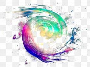 Colorful Luminous Whirlpool - Graphic Design Wallpaper PNG