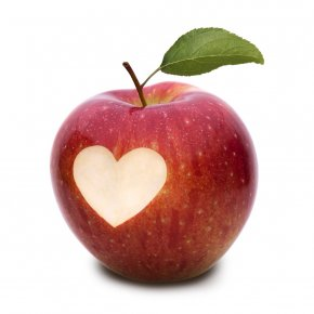 Apple - Apple Pie Heart Eating Health PNG