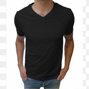 T-shirt - T-shirt Collar Sleeveless Shirt PNG