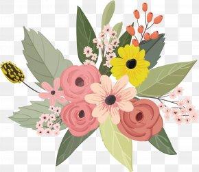 Watercolor Flower Vector - Flower Floral Design PNG