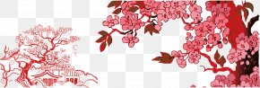 Snow Plum Plum Background Material - Plum Blossom Euclidean Vector Snow Material PNG