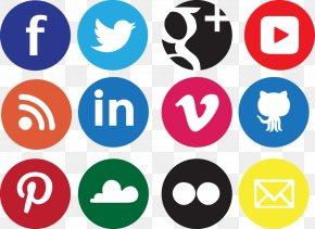 Social Icons Transparent Background - Social Media Design Icon PNG