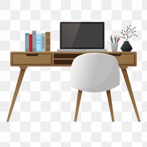Simple Style Work Desk - Table Office Desk Interior Design Services PNG
