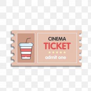 Vector Cartoon Cute Ticket Stubs - Ticket Cinema Film PNG