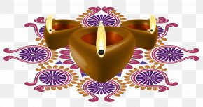Happy Diwali Decorative Candles Clipart Image - Diwali Diya Clip Art PNG