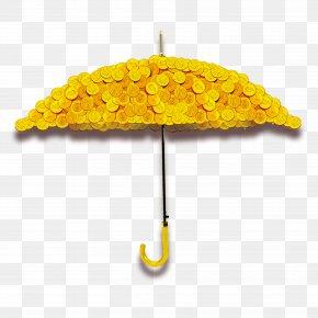 Golden Umbrella - Umbrella Download Rain Computer File PNG