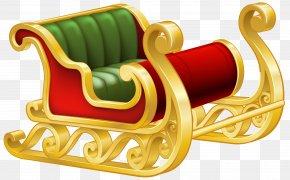 Santa Sleigh PNG Clip Art Image - Santa Claus's Reindeer Sled Clip Art PNG