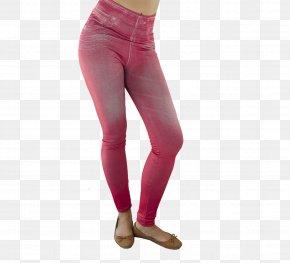 Slimming Shaping - Waist Jeans Leggings Pink M PNG