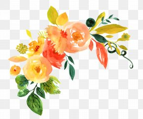 Hand Painted Watercolor Flower Decoration Pattern - Floral Design Flower Watercolor Painting PNG
