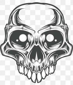 Skull - Skull Euclidean Vector Illustration PNG
