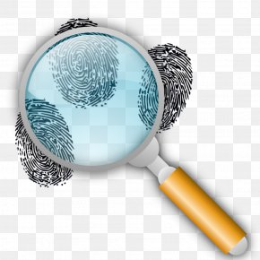 Magnifying Glass - Fingerprint Magnifying Glass Forensic Science Magnification Clip Art PNG