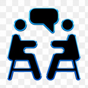 Symbol Electric Blue - Human Resources Icon Interview Icon Meeting Icon PNG