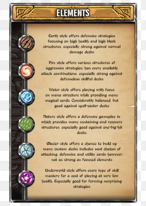 Card Element - Collectible Card Game Playing Card Role-playing Game PNG