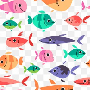 Vector Little Fish - Download Euclidean Vector Fish Drawing PNG