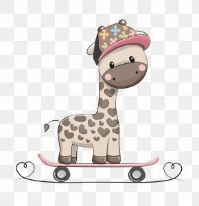 Giraffe Yo Car - Northern Giraffe Euclidean Vector Drawing Illustration PNG