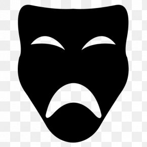 Theater Mask - Smile Mask Theatre Face PNG
