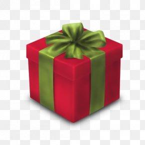 Gift Box - Santa Claus Candy Cane Christmas Gift PNG