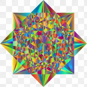 Abstract - Star Polygon Geometry Triangle Line PNG