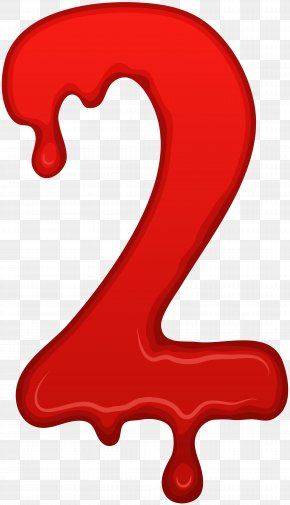 Bloody Number Two Clip Art Image - Bloody Mary Number Clip Art PNG