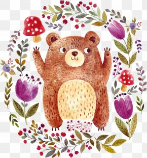 Vector Animals - Brown Bear Drawing Illustration PNG