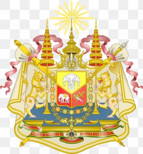 Bangkok - Emblem Of Thailand Rattanakosin Kingdom Coat Of Arms PNG