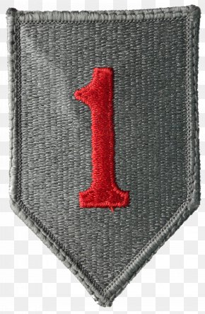 1st - United States Army Normandy Landings 1st Infantry Division Shoulder Sleeve Insignia PNG