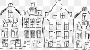 Black And White House - Black And White Drawing Sketch PNG