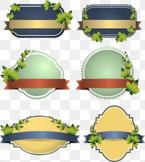Leaf Trim Tabs - Euclidean Vector Label Sticker PNG