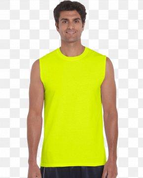 Muscle T-shirt - T-shirt Hoodie Gildan Activewear Sleeveless Shirt PNG