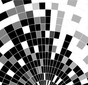 SCIENCE Box Background - Colorful Squares Black And White Geometry PNG
