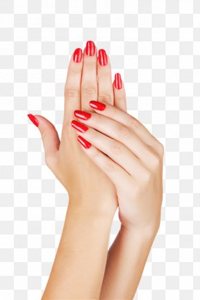 Hands Painted Red Nail Polish - Light Nail Polish Manicure Gel Nails PNG