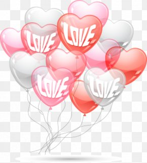 Love Free Balloon Pull Material - Balloon Heart Valentine's Day Clip Art PNG