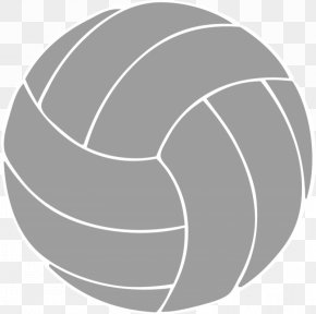Black And White Volleyball - Modern Volleyball Free Content Clip Art PNG