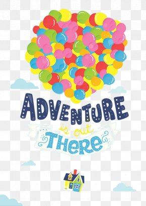 Flying Around The World - Adventure Pixar Art Poster Up PNG