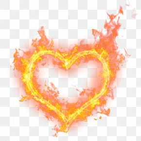 Heart Fire - Heart Fire Flame Princess Clip Art PNG