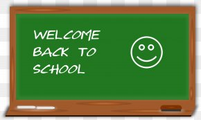 Blackboard Cliparts - Student Blackboard First Day Of School Clip Art PNG