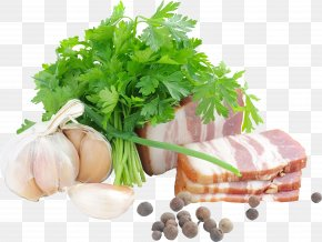 Bacon - Sausage Parsley Bacon Vegetarian Cuisine Butterbrot PNG