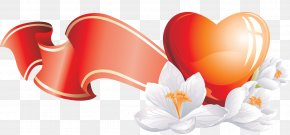 Falling - Flower Heart Red Clip Art PNG