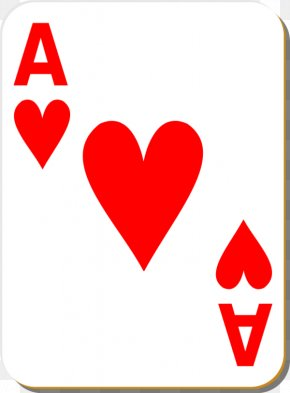 Small Heart Clipart - Playing Card King Ace Of Hearts Clip Art PNG