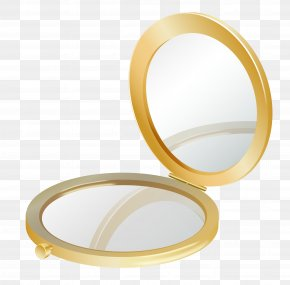 Gold Compact Mirror Clipart Picture - Compact Mirror Cosmetics Clip Art PNG
