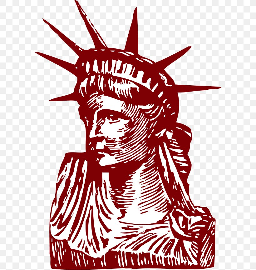 Statue Of Liberty Drawing Clip Art, PNG, 600x864px, Watercolor, Cartoon, Flower, Frame, Heart Download Free